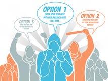 Punto del modello di opzione dell'uomo d'affari che allinea 4 Immagini Stock Libere da Diritti