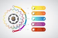 Punto del modello 5 di progettazione di cronologia di Infographics con le opzioni royalty illustrazione gratis