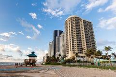Punto del océano del hotel turístico de DoubleTree, Miami Beach del norte Fotos de archivo libres de regalías