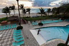 Punto del océano del hotel turístico de DoubleTree, Miami Beach del norte Imagen de archivo