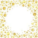 Punto del oro redondo Imagen de archivo