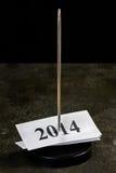 Punto del papel de Año Nuevo Foto de archivo libre de regalías