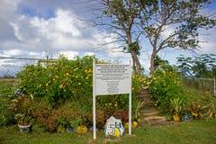 Punto del puesto de observación en el acantilado del ` s de Hackleton en Barbados fotografía de archivo libre de regalías