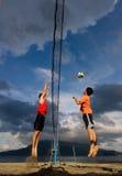 Punto del voleibol de la playa Fotos de archivo libres de regalías