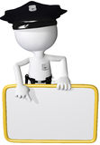 Punto dell'agente di sicurezza della polizia allo spazio della copia del segno Immagini Stock