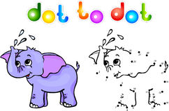 Punto dell'elefante da punteggiare Immagini Stock Libere da Diritti