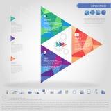 Punto dell'insegna del triangolo e dell'icona di affari royalty illustrazione gratis
