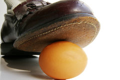 Punto dell'uovo Fotografie Stock