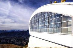 Punto della cabina di funivia, Mountain View Fotografie Stock Libere da Diritti