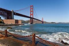 Punto della fortificazione di golden gate bridge Immagine Stock Libera da Diritti