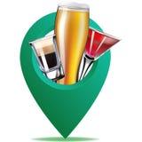 Punto della mappa dell'alcool Illustrazione Royalty Illustrazione gratis