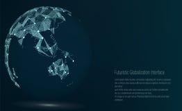 Punto della mappa di mondo L'Australia ed Oceania Illustrazione di vettore Composizione, rappresentante il collegamento di rete g royalty illustrazione gratis