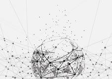 Punto della mappa di mondo, linea, composizione il globale Fotografie Stock Libere da Diritti