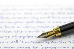 Punto della penna di fontana Fotografia Stock
