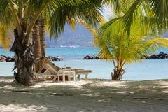 Punto della spiaggia sulle Seychelles Immagine Stock