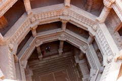 Punto di Adalaj bene, Ahmedabad, Gujarat, India Fotografia Stock Libera da Diritti