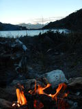 Punto di campeggio Fotografia Stock