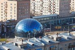 Punto di controllo centrale nel distretto di Sokol, Mosca Immagine Stock
