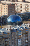 Punto di controllo centrale nel distretto di Sokol, Mosca Fotografia Stock