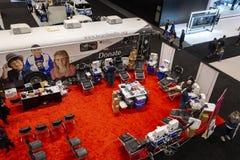 Punto di donazione di sangue fotografia stock