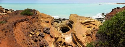 Punto di Gantheaume, Broome, Australia occidentale Immagini Stock
