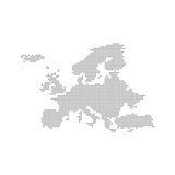 Punto di Grey Map Europe In The Illustrazione di vettore Fotografie Stock Libere da Diritti