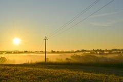 4 in punto di mattina, nebbia Immagine Stock Libera da Diritti