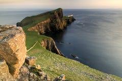 Punto di Neist, isola di Skye, Scozia Immagine Stock