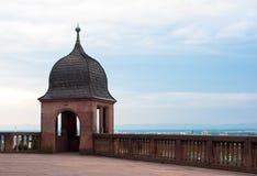 Punto di osservazione del castello di Heidelberg Fotografie Stock Libere da Diritti