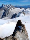 Punto di osservazione di Mont Blanc Immagine Stock