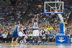 Punto di pallacanestro immagine stock