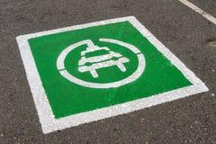 Punto di parcheggio del veicolo elettrico Immagini Stock