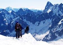 Punto di partenza del viaggio di Mont Blanc Fotografia Stock Libera da Diritti
