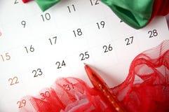 Punto di penna al giorno di Natale Fotografia Stock