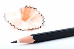 Punto di punta delle matite nere Fotografia Stock