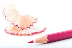 Punto di punta delle matite rosa Immagini Stock Libere da Diritti