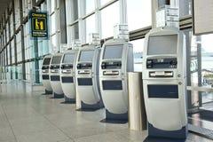 Punto di registrazione dell'aeroporto Immagini Stock