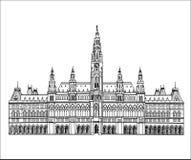 Punto di riferimento austriaco Costruzione del municipio a Vienna, Austria Fotografia Stock Libera da Diritti