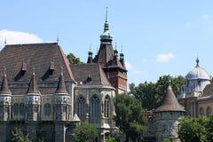 Punto di riferimento Budapest del vajdahunyad del castello Fotografie Stock
