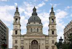 Punto di riferimento Budapest della basilica di Santo Stefano Fotografie Stock Libere da Diritti