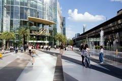Punto di riferimento di costruzione commerciale di Bangkok Tailandia immagini stock