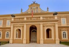 Punto di riferimento del museo nazionale nella città di Cetinje, Montenegro fotografia stock libera da diritti