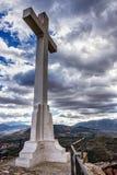 Punto di riferimento del passaggio pedonale verso la grande croce in Santa Catalina o fotografia stock libera da diritti