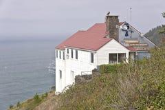 Punto di riferimento della costa dell'Oregon dell'allerta di Foulweather del capo Immagine Stock Libera da Diritti