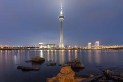 Punto di riferimento della torre di Macao di Macao Fotografie Stock