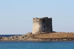 Punto di riferimento della torre di Pelosa Fotografia Stock