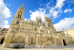 Punto di riferimento dello Spagnolo di Burgos Cathedral Punto di riferimento spagnolo famoso Immagine Stock Libera da Diritti