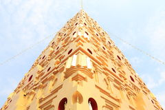 Punto di riferimento di Buddhakaya Chedi di Sangklaburi fotografia stock libera da diritti