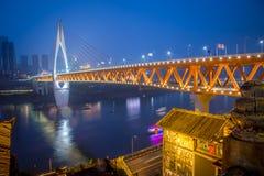 Punto di riferimento di paesaggio urbano di Chongqing China fotografia stock