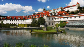 Punto di riferimento di Praga del palazzo di Wallenstain Fotografia Stock Libera da Diritti